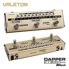 Valeton Dapper Acoustic Mini (MES-4) 4 in 1 Mini Effects Strip(통기타용 4가지 이펙터가 하나에!)